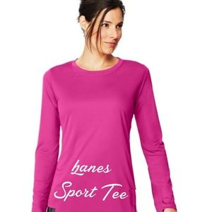 New Hanes Dri fit Sport Long sleeve Workout Top